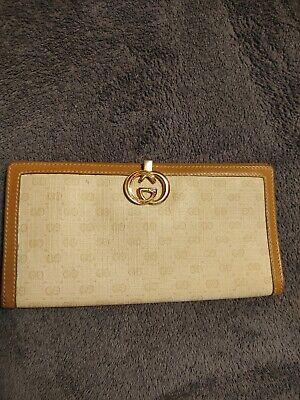 Authentic Vintage Gucci Monogram wallet women used