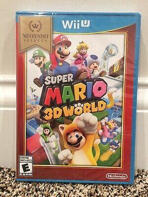 Super Mario 3D World Nintendo Wii U Selects BRAND NEW SEALED 2013 USA