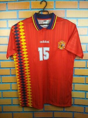 adidas Origina/'s Retro Spain Jersey 1994 Red 15 Soccer Futbol World Cup CE2340