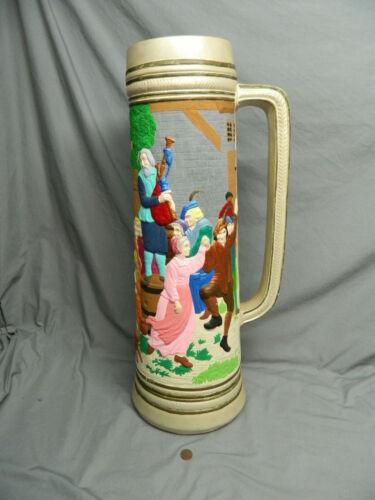 Very Tall Ceramic Beer Stein Mug Floor Vase