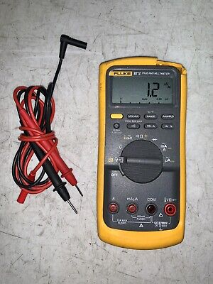 Used Fluke 87v True Rms Digital Multimeter W Leads Works 87-5 87 V