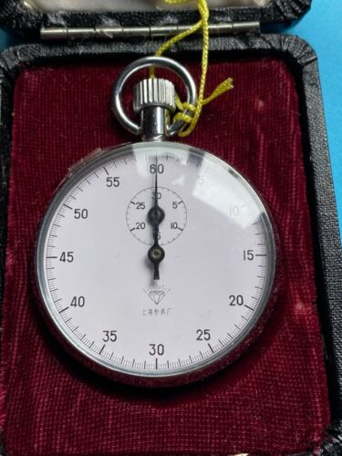 Shanghai Diamond Brand Manual Mechanical Stopwatch Manual Winding Sports Timing