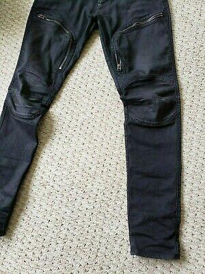 G-STAR RAW AIR DEFENCE 5620 Mid Skinny BLACK SLIM PANTS 34W 32L