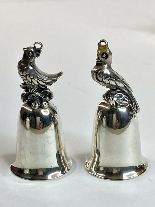 Reed & Barton 12 Days of Christmas Silverplate Bells Holiday Ornaments 1977