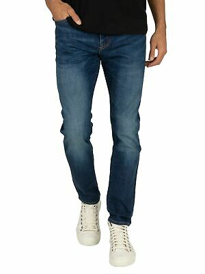 Superdry Men's Tyler Slim Jeans, Blue
