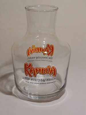"Kahlua ""The Everyday Exotic"" Liqueur Glass Decanter Pitcher"