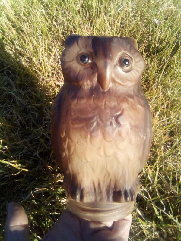 "Consolidated Lamp & Glass Screech Owl  7"" Vintage"