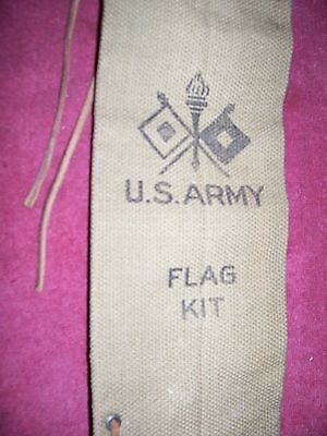 WW I ( 1918)  US ARMY KHAKI CANVAS SIGNAL CORP. FLAG CASE  UNISSUED