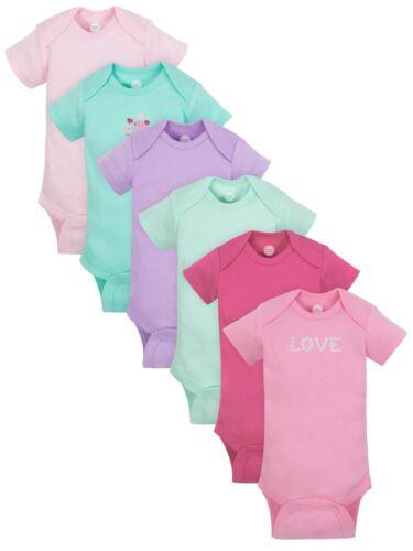 3-6 Month ** (Baby Girls) Wonder Nation by Gerber Onesie Layette Bodysuit 6 Pack