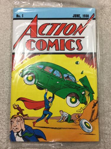 LOOT CRATE DC ACTION COMICS #1 1938 OFFICIAL REPRINT! COA 1ST SUPERMAN