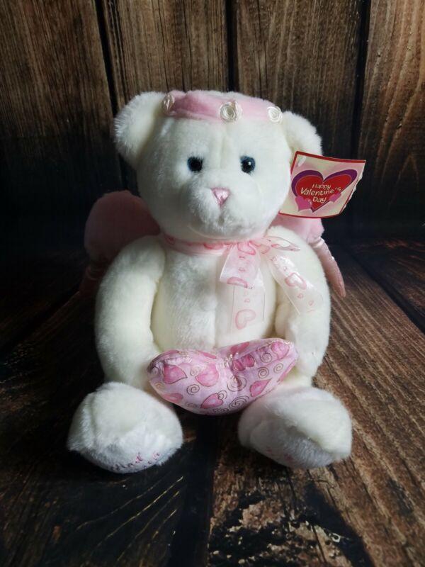 Valentine Bear Plush Wind Beneath My Wings Angel Wings Stuffed Animal Honey