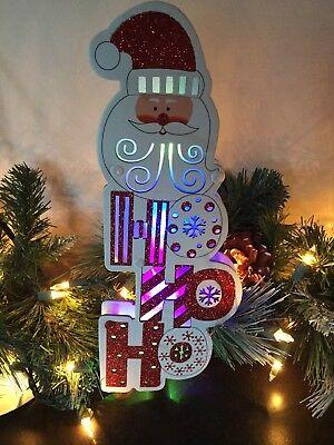 Light Up HoHoHo Santa Sign Led Christmas Holiday Decoration - Darice Holiday Decor Ornament