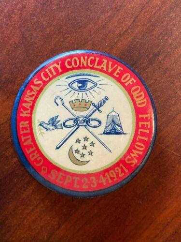 Kansas City Conclave of Odd Fellows Pin 1921
