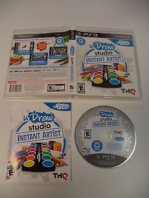 uDraw Studio Instant Artist (Disc & Manual Only) No Tablet for PS3 & THQ, usado segunda mano  Embacar hacia Argentina