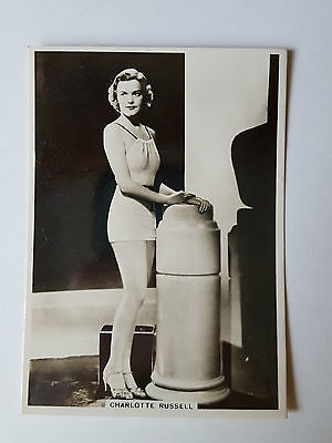 MODERN BEAUTIES 4th SERIES - #22 CHARLOTTE RUSSELL - 1937 - B.A.T Cigarette Card