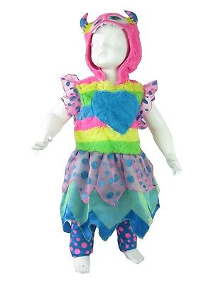BABY GIRL FANCY DRESS TODDLER HALLOWEEN CUTE MONSTER COSTUME 1 TO 2 YEARS BOOK