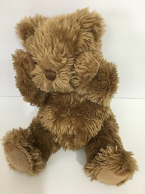 "Munchkin Peek-a-Boo Bear Animated Talking Plush Stuffed Brown Bear Sitting10"""