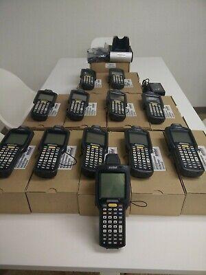 Lot 12 Mc3000 Symbol Mobile Barcode Scanner 1 Charging Cradle 2 Ac Adapters