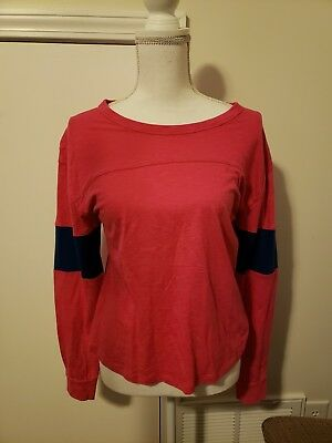 Abercrombie & Fitch NWT Women's Long Sleeve Color Block Tee -