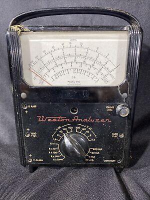 Weston Analyzer Model 980 Mark Ii Voltampohm Meter Untested As Is