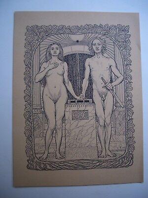 FIDUS  jugendstil/lebensreform AM TRAUALTAR (um 1920) naturpropheten/nature boys