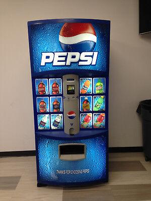 Pepsi Vending Machine Dixie Narco 600e-9 Hvv 1216 20 Oz Made In Usa Refurb