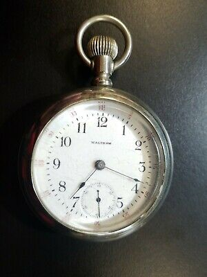 AMERICAN WALTHAM Pocket Watch Classic Large size 18S Philadelphia Case running