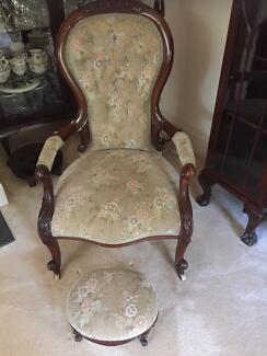 Grandfather Chair - Victorian