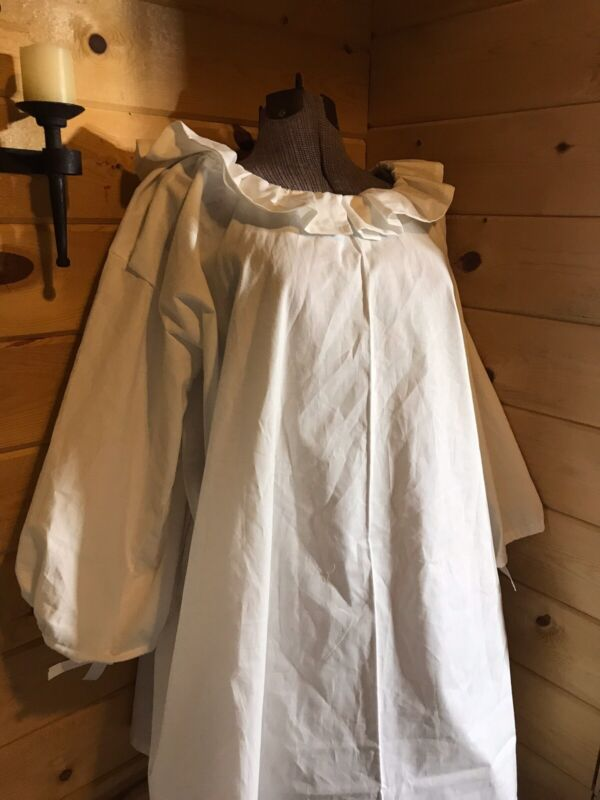 18th Century Colonial Outlander Williamsburg 1700s Chemise Shift Nightgown