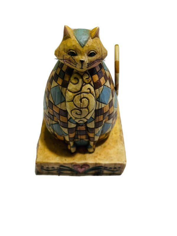 "Jim Shore Heartwood Creek ABIGAIL For Enesco Cat 6"" Figure Figurine EUC"