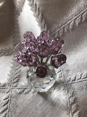 SWAROVSKI Crystal Flowers A Dozen Pink Roses Stunning