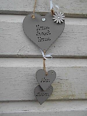 💖💖💖New Personalised Home Sweet Home sign, heart, plaque,Valentine gift 💖💖💖