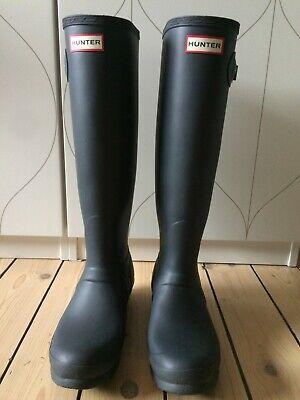 Hunter Wellies Slate Grey Size 6