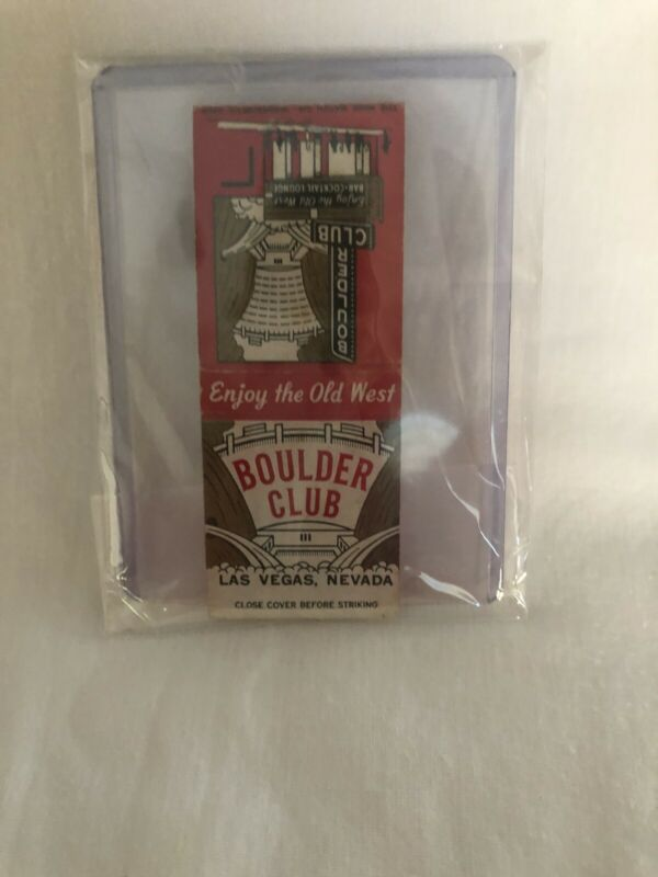 Vintage Las Vegas Matchbook Boulder Club