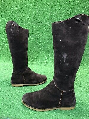 Emu Shoes Brown Suede Shearling Lined Knee High King's Cross Boots Womens Size 8 Womens Kings Cross Boot