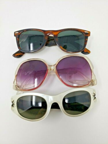 Vintage Lot of 3 Womens Sunglasses