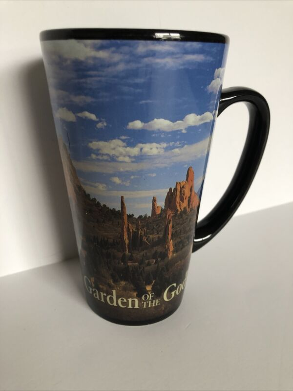Garden Of The Gods Black Mug 16 Ounces Colorado Travel Memorabilia Souvenir