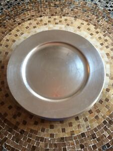 Silver Charger Plates -Great for the Holidays