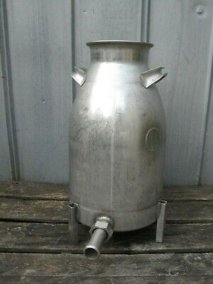 Vintage 10 Gallon Firestone Stainless Steel Milk Can Moonshine Beer Making B2529