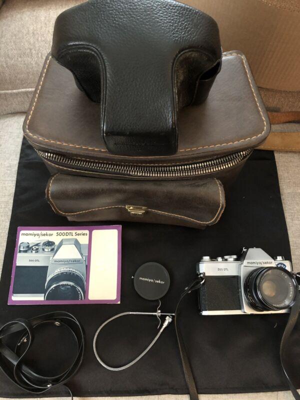 Mamiya / Sekor 500 DTL Camera 1:2 50mm - w/Bag, Case, Manual- Untested