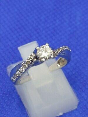 Ernest Jones Platinum 950 Half Carat 0.50 Diamond Ring Size L 4.5 g