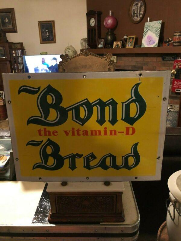 Vintage Bond Bread Porcelain Sign 1930