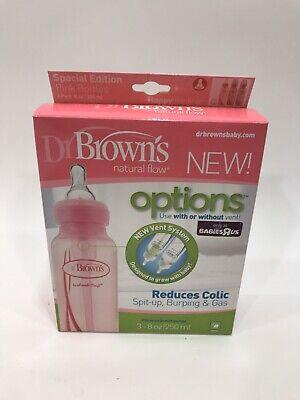 Dr. Brown's Baby Bottles - BPA Free Baby Bottles 8 Oz. - Pink - 3 Pack