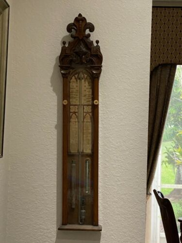 RARE ANTIQUE ADMIRAL FITZROY BAROMETER - VICTORIAN - PICK UP ONLY