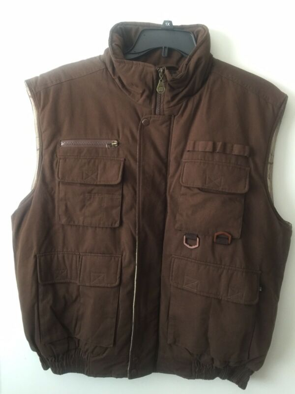 Mens SC Fisher/ Hunting Vest Thick XL New