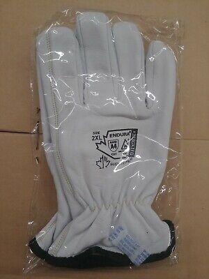 Mens Leather Work Gloves Superior Endura-goatskinkevlar Lined Size Xxl