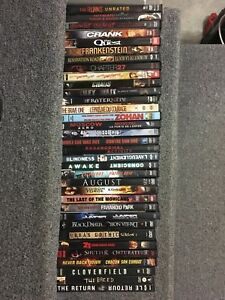33 DVD's as listed