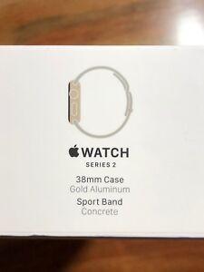 38mm Apple Watch Series 2 Gold  / Concrete