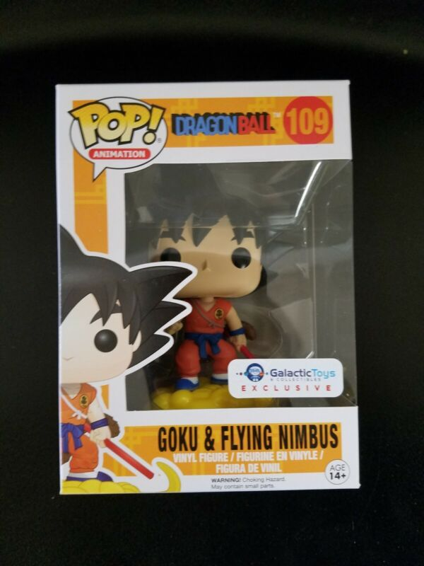 Son Goku Funko Pop Vinyl Figure Dragon Ball Z Exclusive Flying Nimbus #517