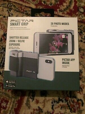 NEW Pictar Smart Grip w/ 20 Photo Modes Shutter Release Zoom Selfie iPhone